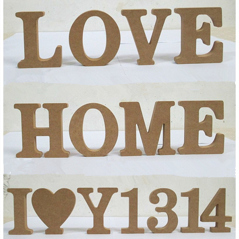 personal wood wooden letters bridal wedding party home decoration