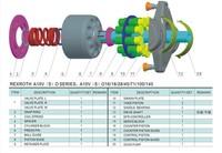 Rexroth reparatiesets hydraulische zuiger pomp onderdelen A10VNO85 valve plaat zadel lager seal kit onderdelen