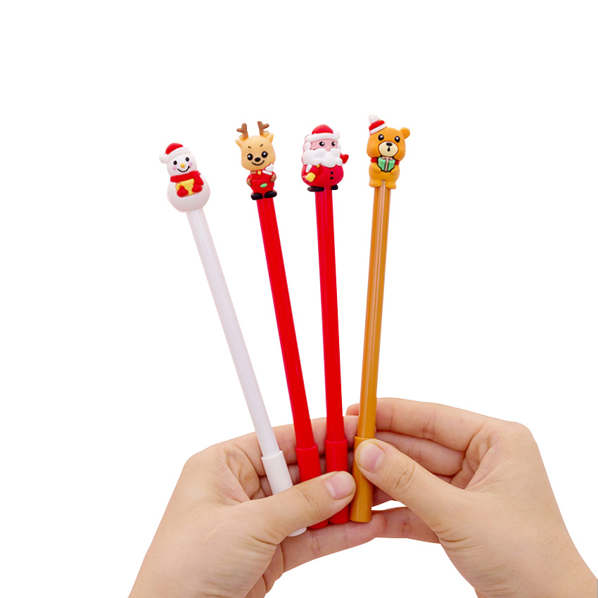 1pcs/pack Santa Claus Series Pen Cartoon Animals Kawaii Gel Pens For Office And School Using
