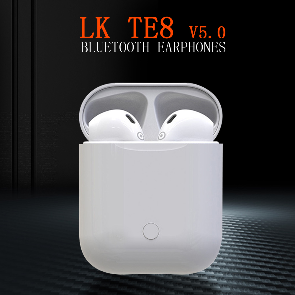 LK TE8 wireless bluetooth earphone headset Bluetooth 5.0 Headset Stereo Bass portable wireless touch earbuds for smart device
