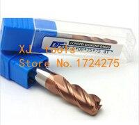1PCS 10R2.0~12R2.0*100L Titanium yellow 4 flutes Cemented Carbide Corner Radius endmill CNC router bit milling cutter tool
