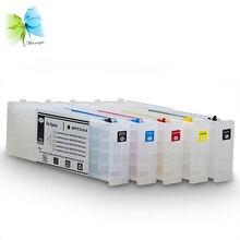 все цены на 700ml alibaba supply for epson surecolor sc-t5270 ARC refillable cartridge ink tank compatible for epson printer онлайн