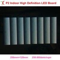 2018 new size 256*128mm P2 indoor full color led modules dot matrix rgb panel high definition diy led display,250.000dots/sqm