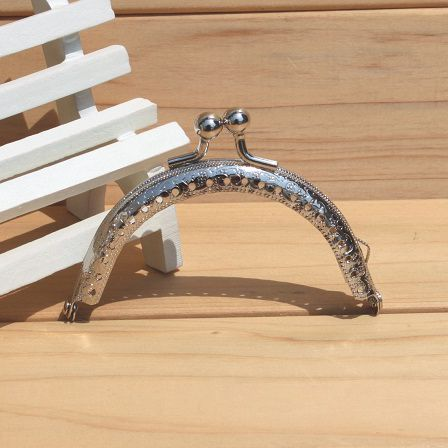 Tasche Geldbörse Cluth Kuss Schließe Für Diy Tasche Zubehör Exquisite Verarbeitung 50 StÜcke 8,5 Cm Versilberung Prägen Muster Metall Geldbörse Rahmen In
