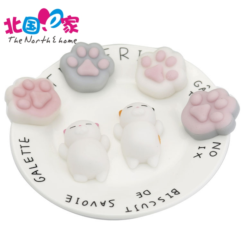 Novelty and creative Soft Gloppy squeeze Origina Lazy cat and claw dumpling that people can vent emotional some fun Fidget toys.