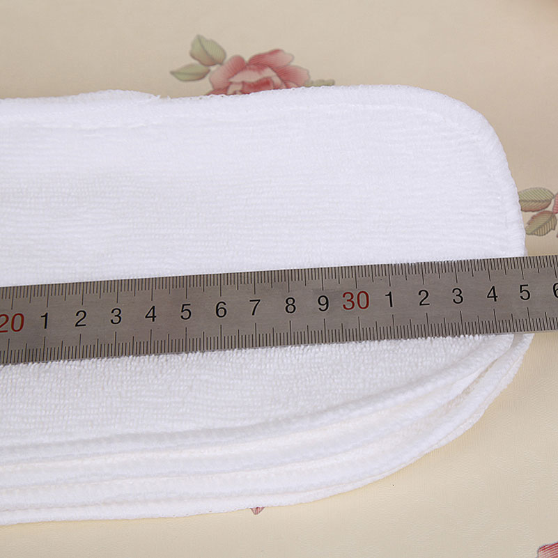 Nano Microfiber Washable Diaper Liners for Cloth Diapers Reusable Nappies for Babies Newborn Reusable Diapers Insert 13x34CM
