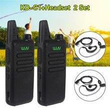 2Sets/lot KD-C1 5W Portable Microphone UHF 400-470MHz Radio+