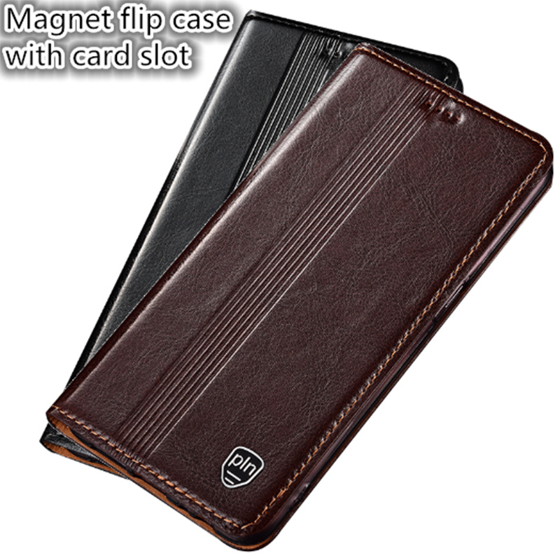 RL02 Genuine Leather Phone Cover With Card Slot For Sony Xperia XA Ultra(6.0') Flip Case For Sony Xperia XA Ultra Phone Case