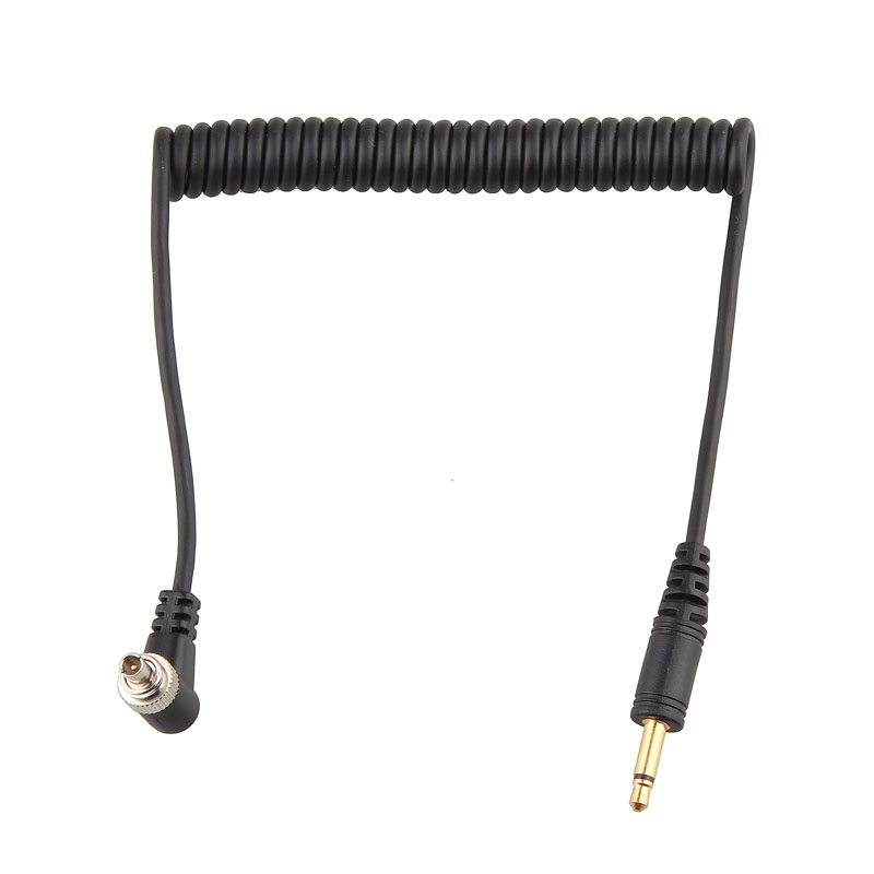 PC-3.5mm 3.5 mm Male PC Sync Flash Cable Camera PC Line 32-100cm