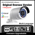 HIKVISION DS-2CD2042WD-I(6mm) Original English Oversea Version IP camera POE security Camera P2P Onvif H265 CCTV camera H265 HIK