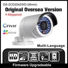 HIKVISION DS-2CD2042WD-I (6mm) D'origine Anglais D'outre-Mer Version caméra IP POE Caméra de sécurité P2P Onvif H265 CCTV caméra H265 HIK