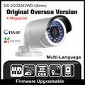 Hikvision ds-2cd2042wd-i (6mm) original inglés versión de ultramar h265 p2p onvif poe cámara ip de cámaras de seguridad cctv cámara h265 hik