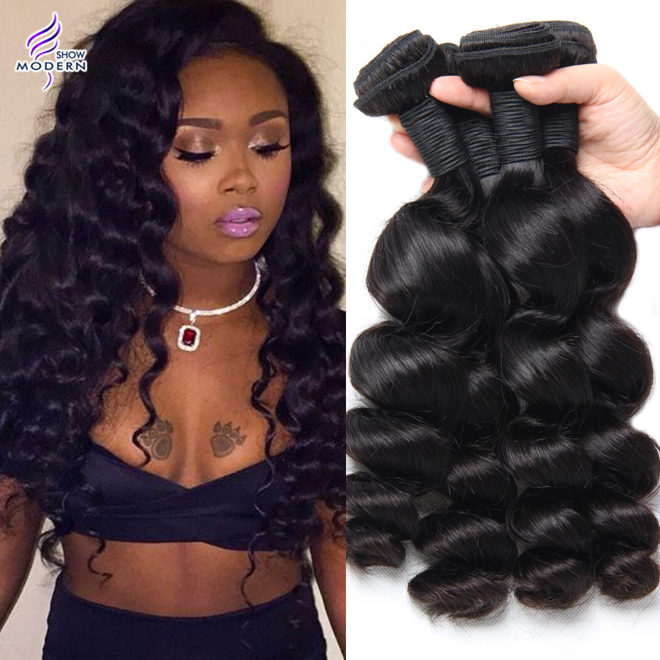 show me weave hair with loose curls 8a brazilian loose