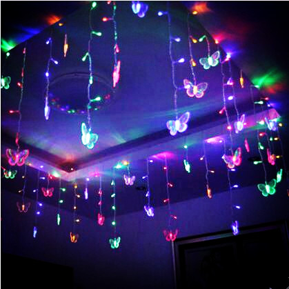 8x0.5m Butterfly LED Cristmas Lights Natale Christmas Garlands Decoration LED Curtain String Fairy Lights Luces De Navidad rmg лучшее на mp3 звери компакт диск mp3