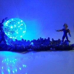 Lampara Dragon Ball Z Vegeta Super Saiyan LED Licht Action-figuren Bösen Vegeta Power Up Dekorative Lampe Led-lampe für geschenke MY1
