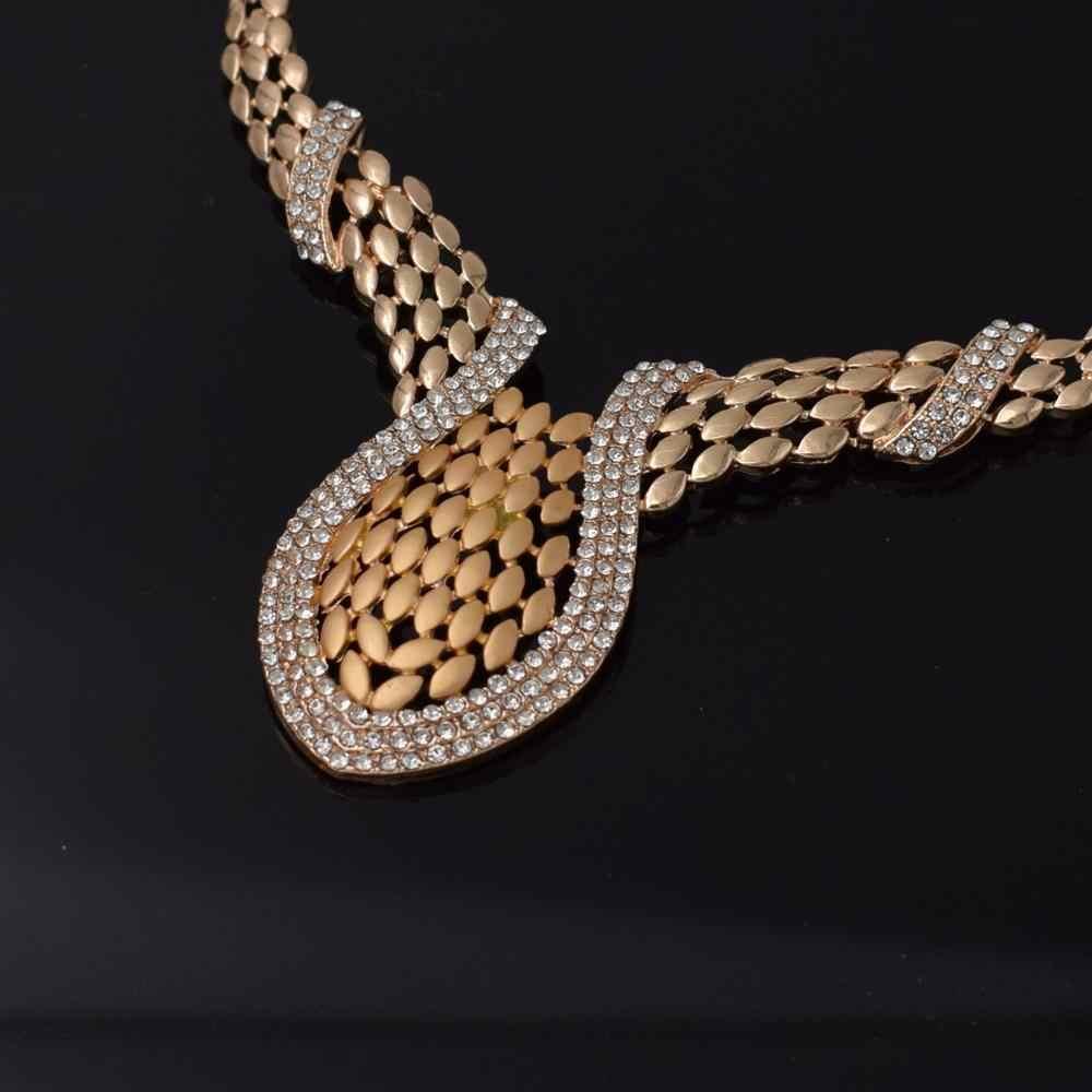 2019 דובאי אופנה יוקרה תכשיטי סטי חתונה ניגריה ילדה תכשיטי סטי שרשרת סטי תכשיטי נשים