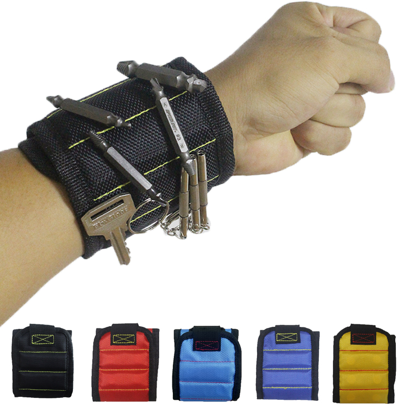 1680D Oxford Cloth Polyester Magnetic Wristband Repair Tool Portable Tool Bag Hand Bracelet Screws Drill Holder Holding A28