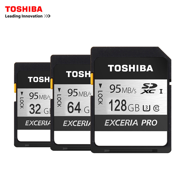 Toshiba Memory Card UHS U3 128GB 95MB/s SDXC 64GB SD 4K Card  32GB SDHC Flash memory EXCERIA PRO Digital SLR Camera Camcorder DV