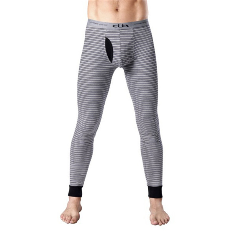 4d2c8d44c6 Men Long Johns Male Girdle Warm Pants Hot Shapers men s Striped Body Shaper  Trousers Underpants Thermal Underwear CML155005