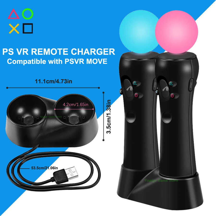 PS4 PS VR Move Dual Controller USB Charger Gamepad Charging Dock Station for Sony Playstation 4 PSVR Move Accessories