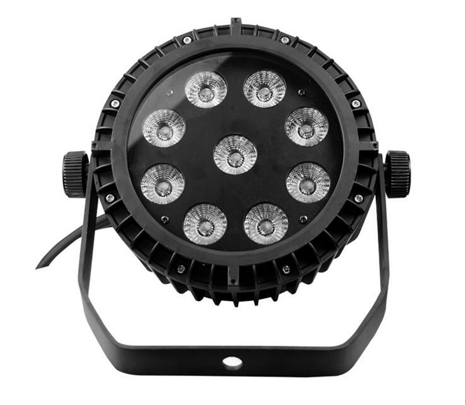 IP65 Waterproof Led Par 9X12W RGBW 9x15W RGBWA 9x18W RGBWA UV 6in1 LED slim Par Can Stage Lighting DJ