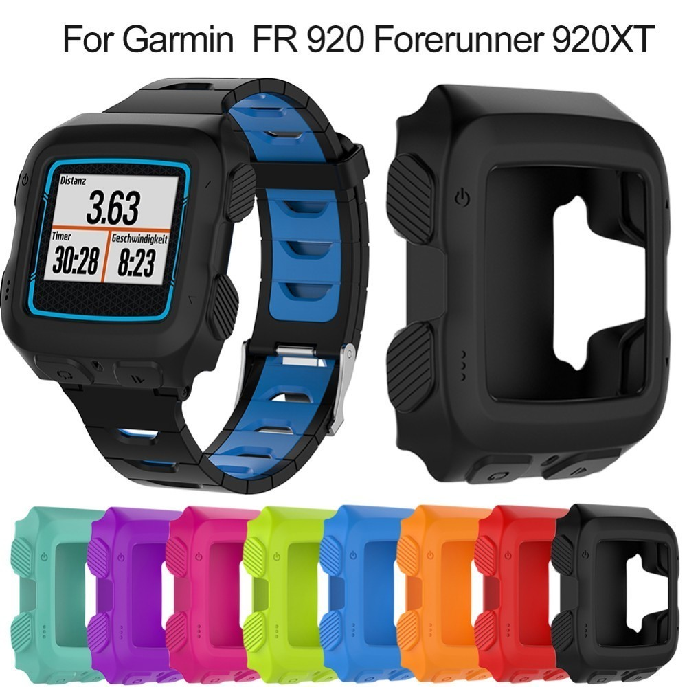 все цены на NEW Silicone Protector Case Cover For Garmin FR 920 Anti-Scratch Protective Shell for Garmin Forerunner 920XT GPS Sports Watch онлайн