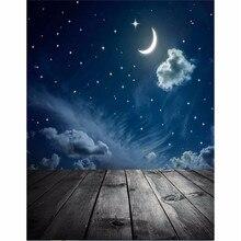 3x5ft Винил Фотографии Фон Ночь Луна Доска фотостудия Реквизит Фотографические Фон Водонепроницаемый 0.9 м х 1.5 м