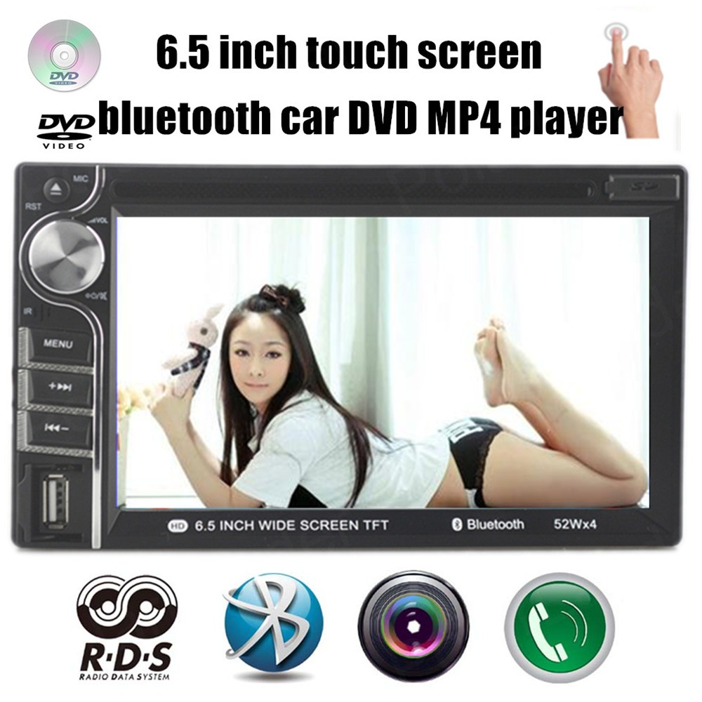 AM FM  7 languages 6.5 inch 2 Din HD touch screen Car DVD MP4 MP5 Player Stereo RDS Bluetooth Radio USB SD for rear CameraAM FM  7 languages 6.5 inch 2 Din HD touch screen Car DVD MP4 MP5 Player Stereo RDS Bluetooth Radio USB SD for rear Camera