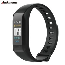 ASKMEER V7plus Smart Wristband Heart Rate Tracker Bracelet Waterproof Watch Men Band For IOS Android Phone