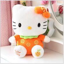 small cute plush fruits kitty toy orange kitty toy orange kitty toy perfect gift about 25cm