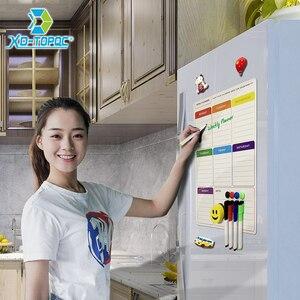 Image 5 - A3 magnétique hebdomadaire et mensuel planificateur tableau blanc réfrigérateur aimant Flexible quotidien Message dessin réfrigérateur Bulletin tableau blanc