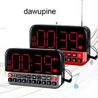 Dawupine multifunctionele Mini Speaker Wekker Radio MP3 Draagbare Audio Speler Sd-kaart USB Reader Slot FM Radio li