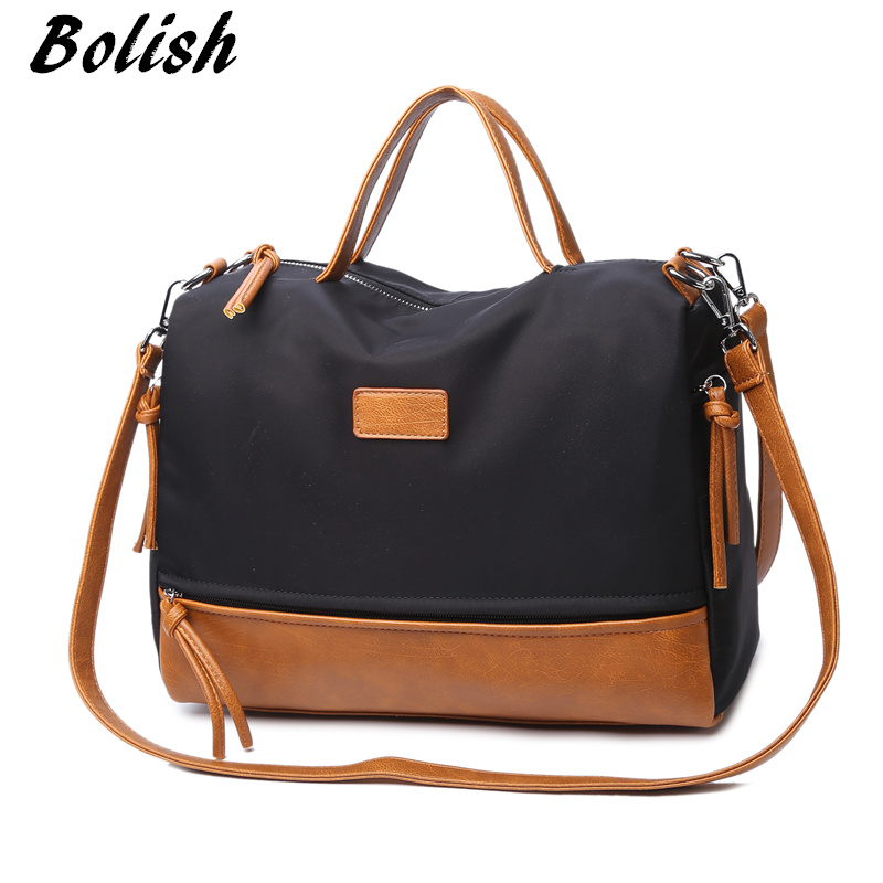 High Quality Oxford Handbag Fashion Motorcycle Bag Large Women Messenger Bag Simple Shoulder Bag Bigger Than