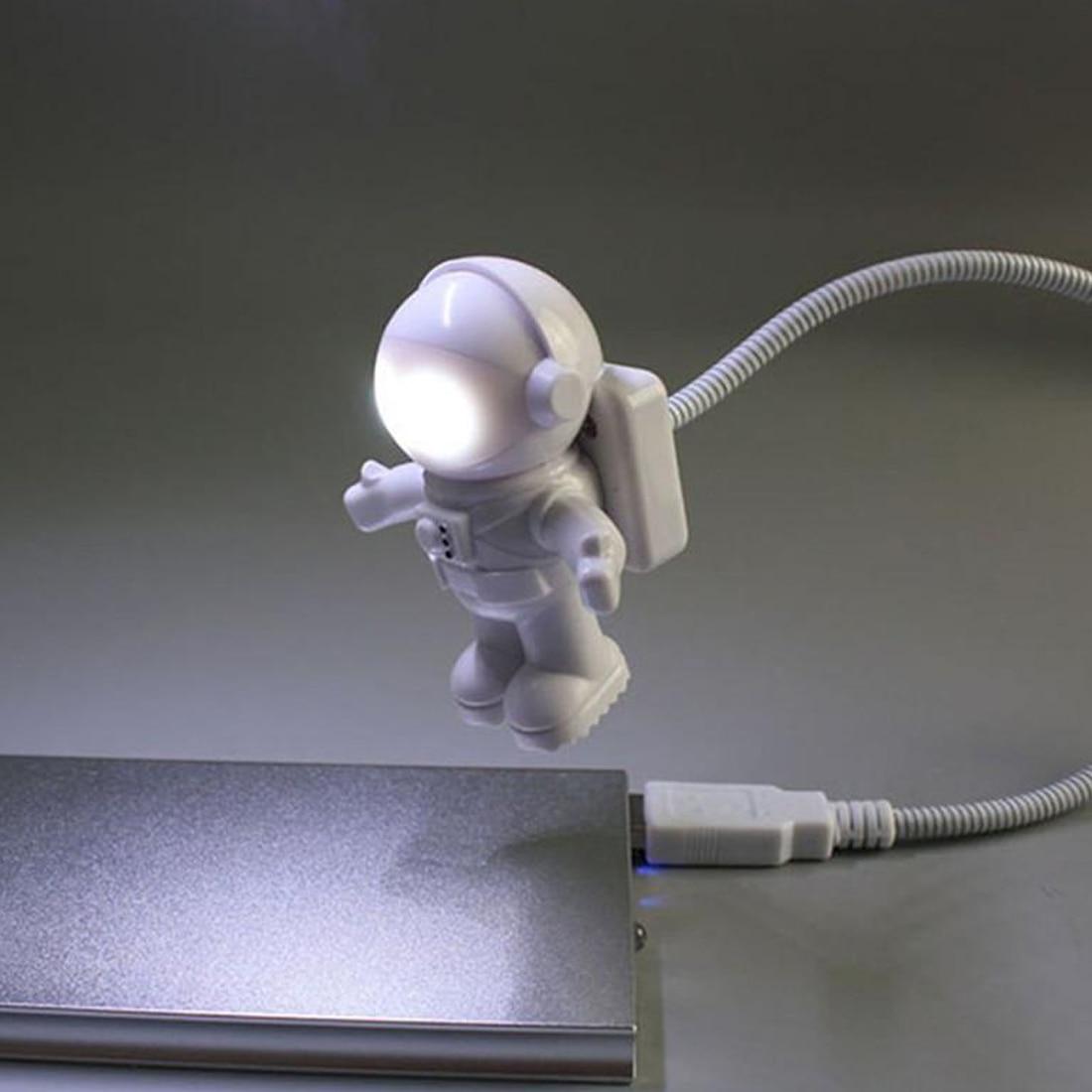 Cute Astronaut Style Computer USB Light Lamp Flexible Bulb for Laptop PC Reading Laptop Accessories Tablet Accessories