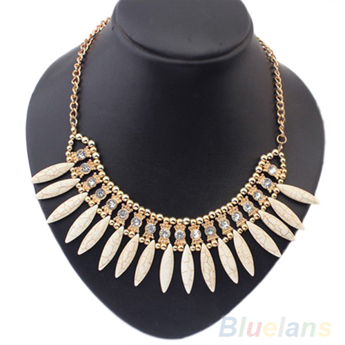 2014 New Women fashion Retro Lovely Occident Style  Crystal Exquisite Tassel Necklace 1NEW