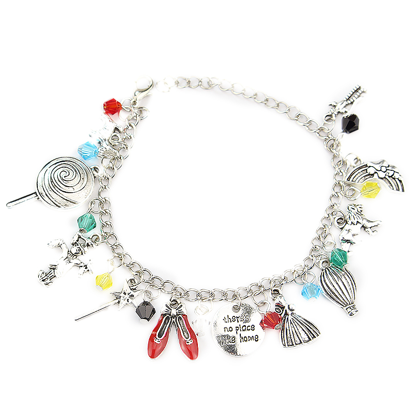 Charm Bracelet Scarecrow Dorothy Wizard-Of-Oz Over-The-Rainbow-Bracelets Gifts for Her