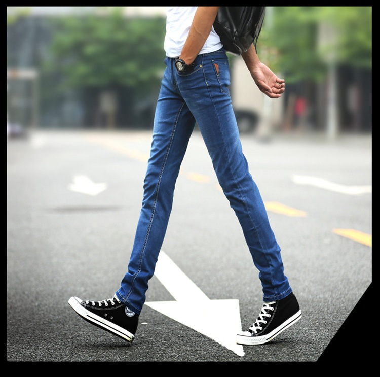EURO 2016 cotton elastic jeans cowboy denim men s trousers autumn winter fashion plus size slim