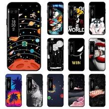Ojeleye Fashion Black Silicon Case For Meizu Pro 7 Plus Cases Anti-knock Phone Cover Covers