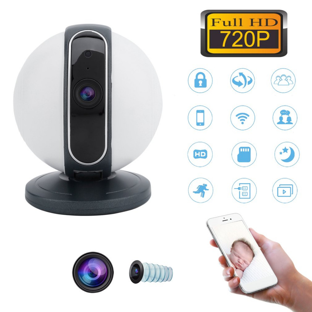 HD 75 Degree Pan Tilt WiFi Security Camera Night Vision IP Camera 720P HD Network Webcam Motion Detect Camcorder for Home Office 200w led follow spot light warm white cool white 2in1 rgbw 4in1 zoom dmx512 stage led profile light