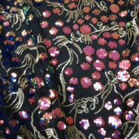 125x90cm 1 Yard Ins Hot New Gold Lace Sequined Embroidery Fabric Women Dress Material Bazin Riche Getzner 2019 Nouveau