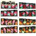 BlueZoo 4 Projeta Flores Adesivos Decorativos Acessórios Do Prego Cobertura Completa Transferência Foils Decalque Da Arte Do Prego Decoração