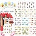Beautynailart 90 UNIDS/LOTE BLE1522-1554 Hermosas Flores de Transferencia de Agua Nail Art Sticker Decal Wrap