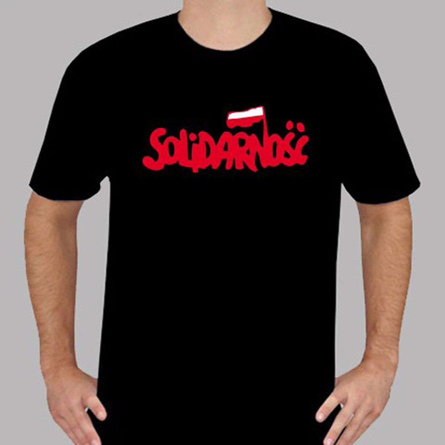 New Solidarnosc Poland, <font><b>Protest</b></font>, Solidarity, 1980 Black T-Shirt Size S to 3XL2018 New Tee Print image