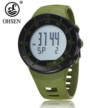 OHSEN electronic Digital Led Men Women Wristwatch Green Alar
