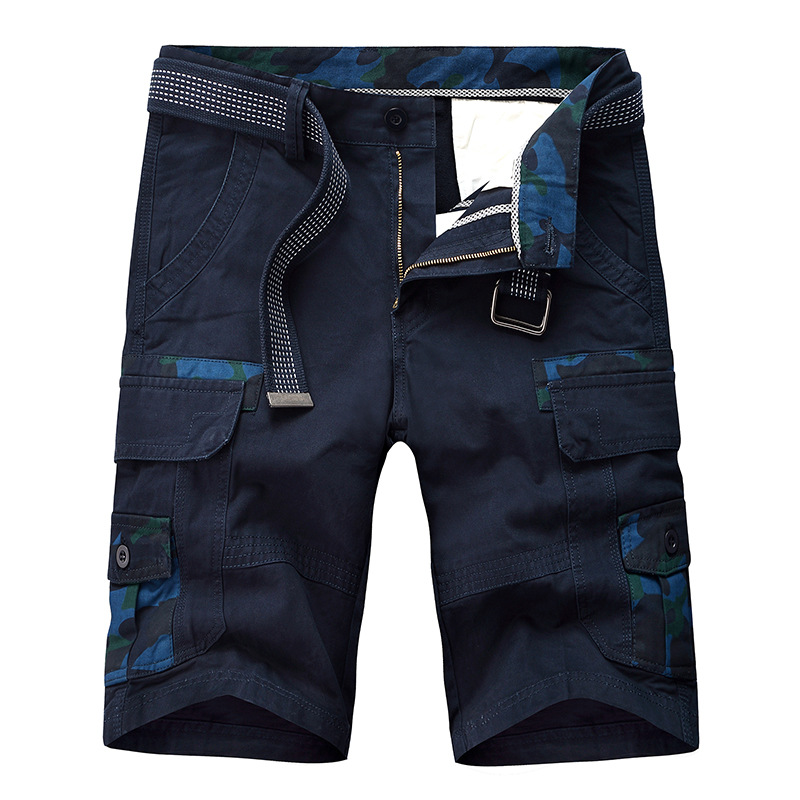 100% Cotton Camouflage Military Cargo Shorts Men 2019 New Arrival Casual Mens Loose Work Cargo Shorts Male Short Pants Hombre