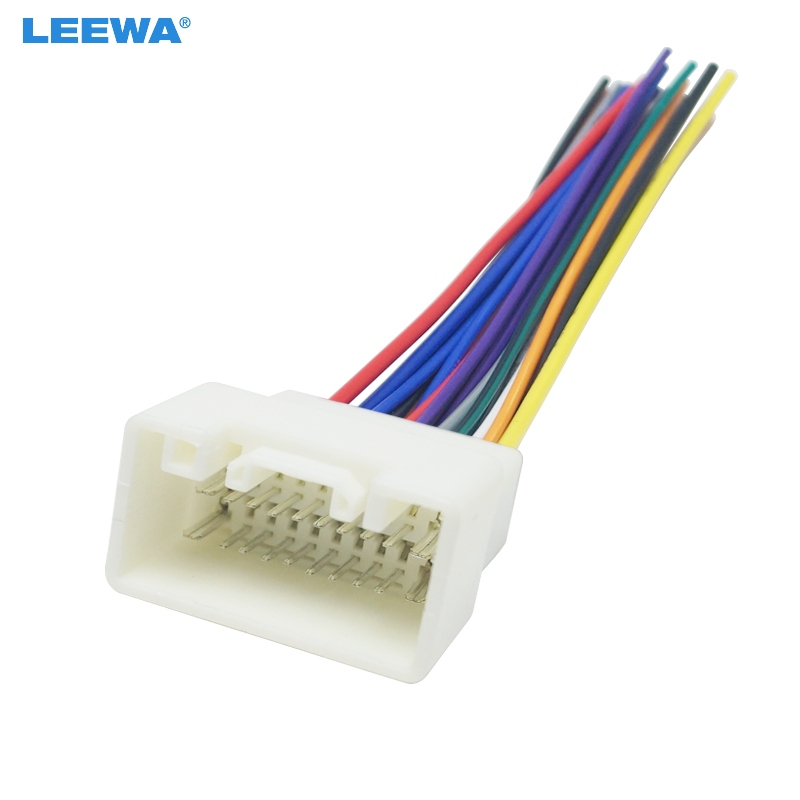 US $2.63 29% OFF|LEEWA Car Radio Stereo Wiring Harness Adapter For on
