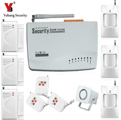 Yobang Security 10A GSM Alarm System Home Burglar Security Alarm Gsm Alarma Cases With Wireless Door Sensor Motion Detector