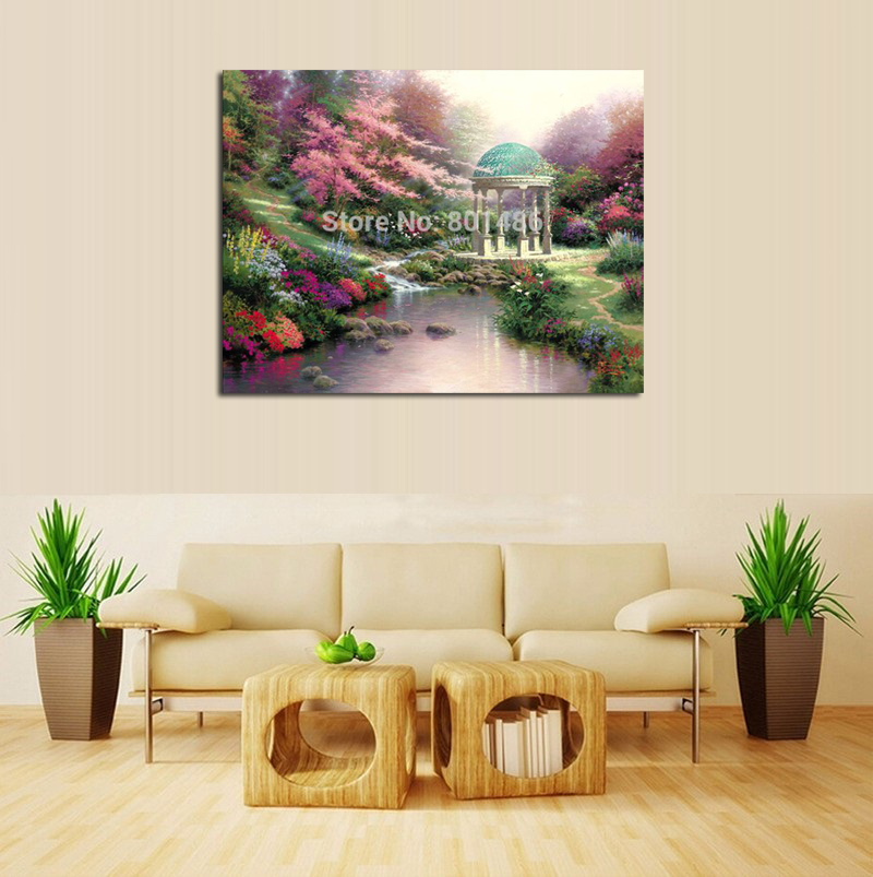 Thomas Kinkade Prints Pools Of Serenity Art Canvas Painting Prints For Bedroom Wall Art