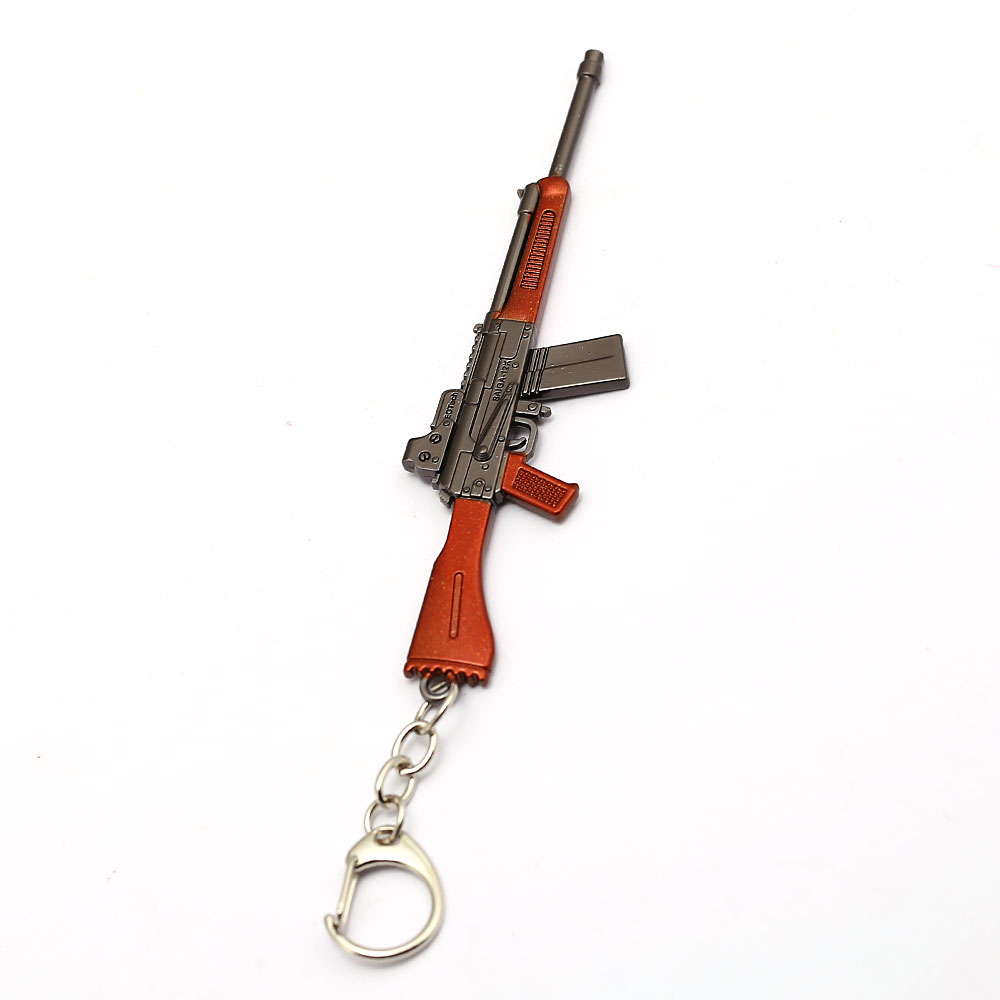 Jedi Survival GUN Model Keychain Game Playerunknowns Jewelry Metal Keyring PUBG Ornament For Men Gift