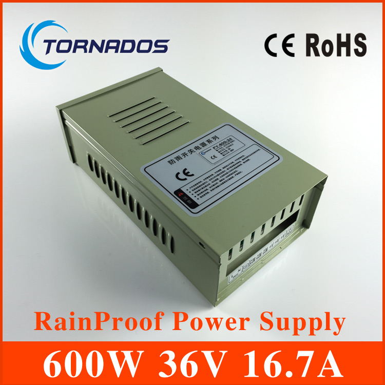 Rainproof switching power supply dc 36v Transformer 110V or 220V AC to DC Power supply 600W led driver for cnc cctv FY-600-36 industrial machinery switching mode power supply 36v 16 6a 600w sp 600 36 with ce certified